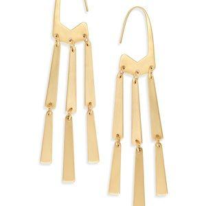 Kendra scott gold mallie earrings NWT